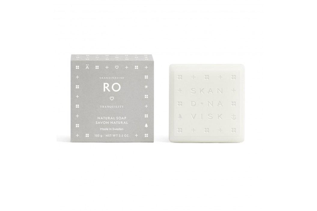 SKANDINAVISK Tuhé mýdlo RO (klid) 100 g, béžová barva, šedá barva, papír