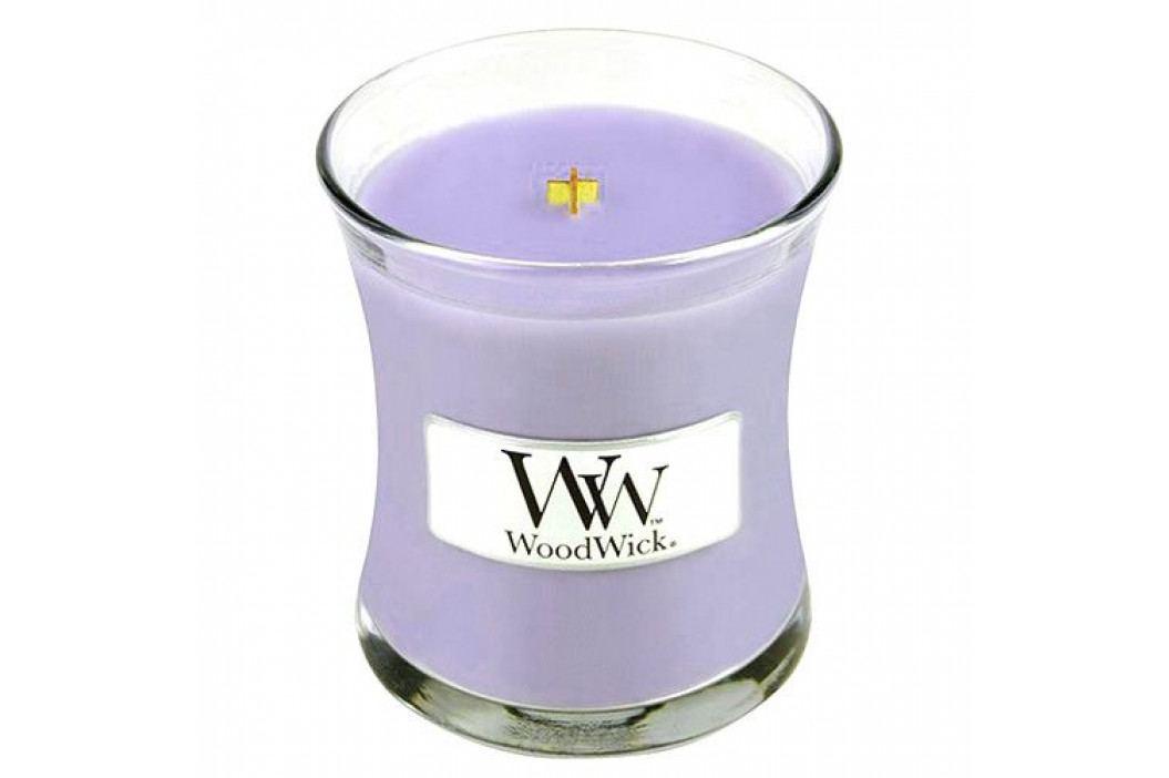 WoodWick Vonná svíčka WoodWick - Šeřík 85 g, fialová barva, sklo, vosk