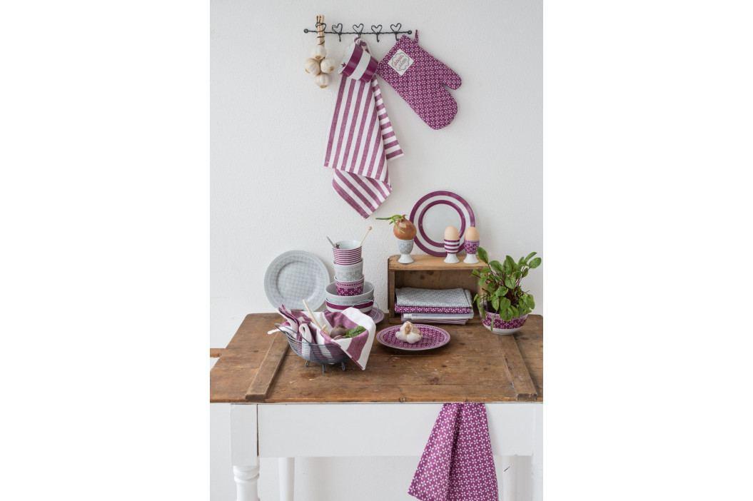 Krasilnikoff Stojánek na vajíčko Daisy Plum, růžová barva, fialová barva, porcelán
