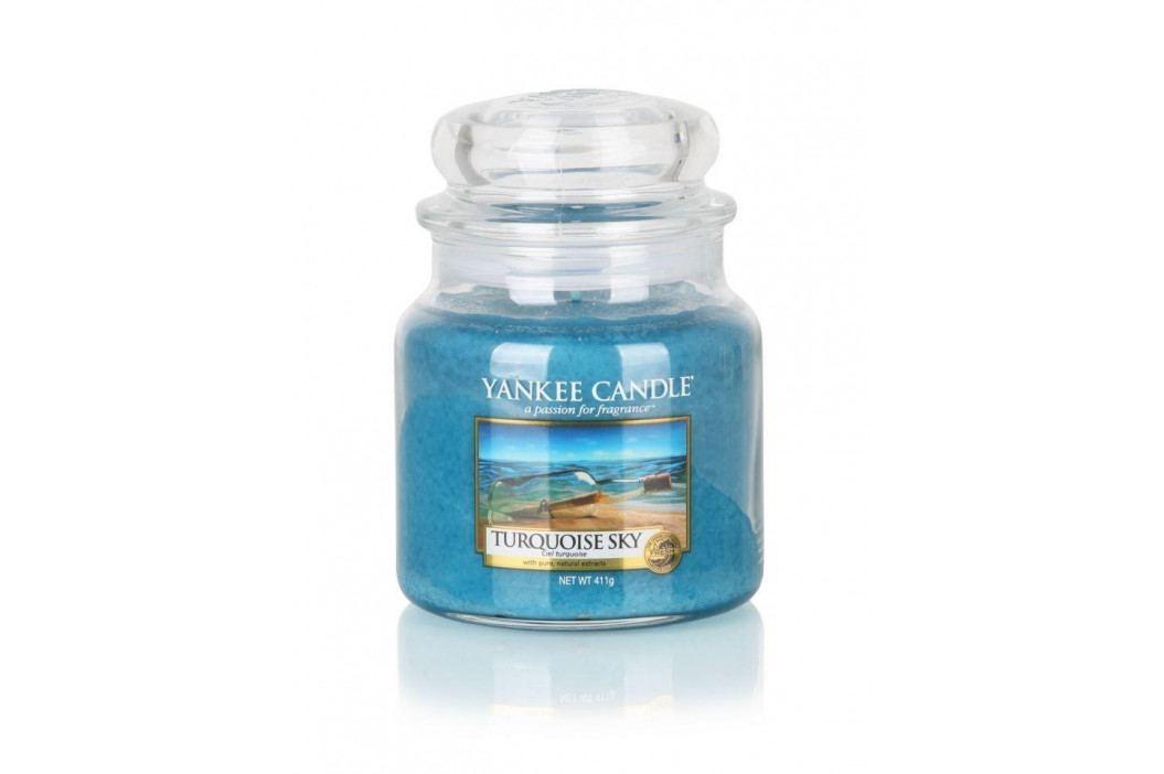 Yankee Candle Svíčka Yankee Candle 411gr - Turquoise Sky, modrá barva, sklo, vosk