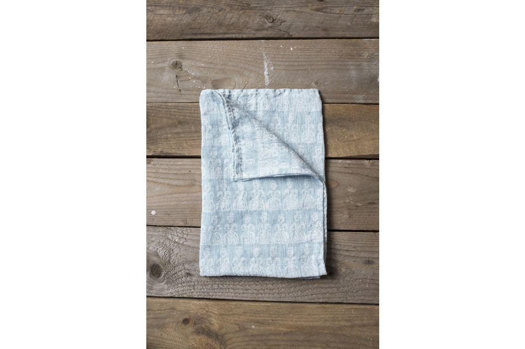 Fine Little Day Lněný ručník Tant Blue 67x67 cm, modrá barva, textil