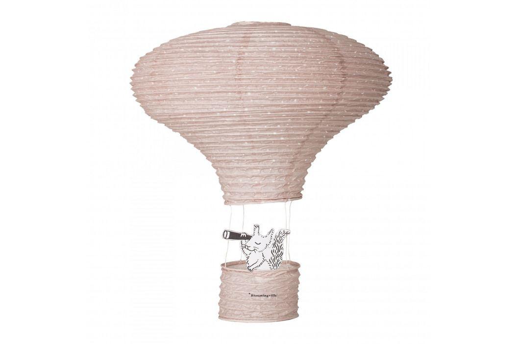 Bloomingville Papírový létající balón Rose 40 cm, růžová barva, papír