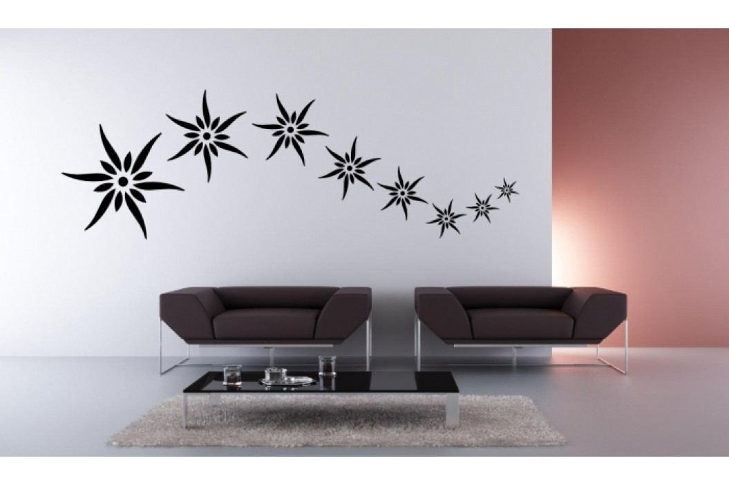 Letící květy - Samolepka na zeď
