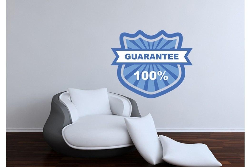 Znak 100% garance (60 x 50 cm) -  Barevná samolepka
