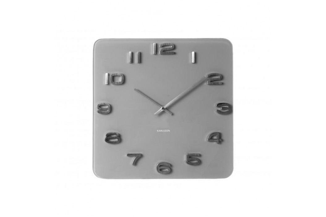 Designové nástěnné hodiny 5488GY Karlsson 35cm
