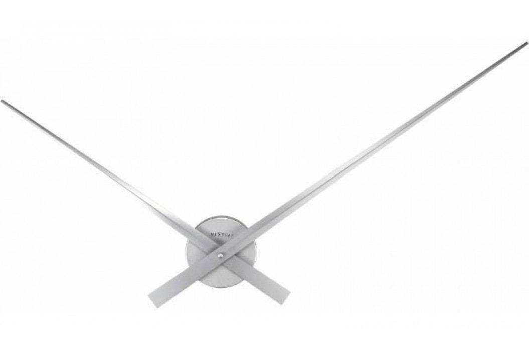 Designové nástěnné hodiny 2269zi Nextime Hands Silver 85cm