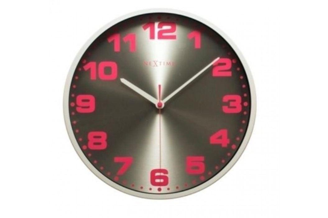 Designové nástěnné hodiny 3053wi Nextime Dash white 35cm