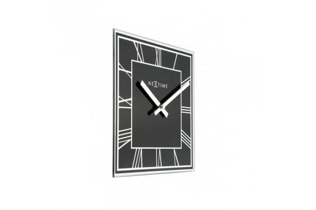Designové nástěnné hodiny 5184zw Nextime Square 20cm