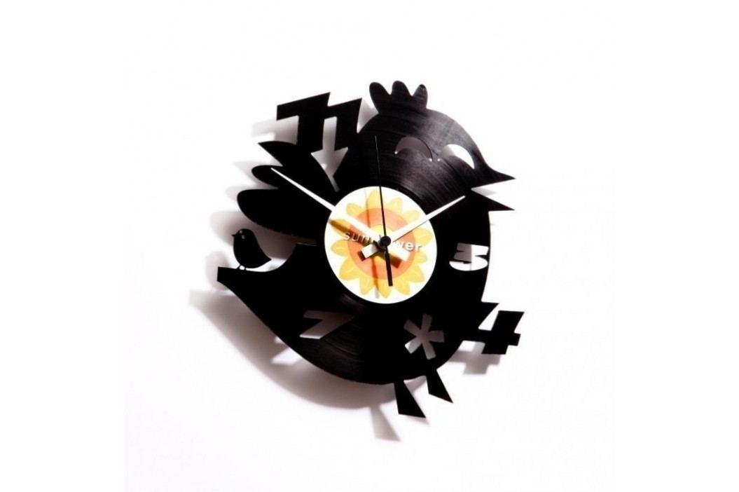 Designové nástěnné hodiny Discoclock 012  Twitters dumb brother 30cm
