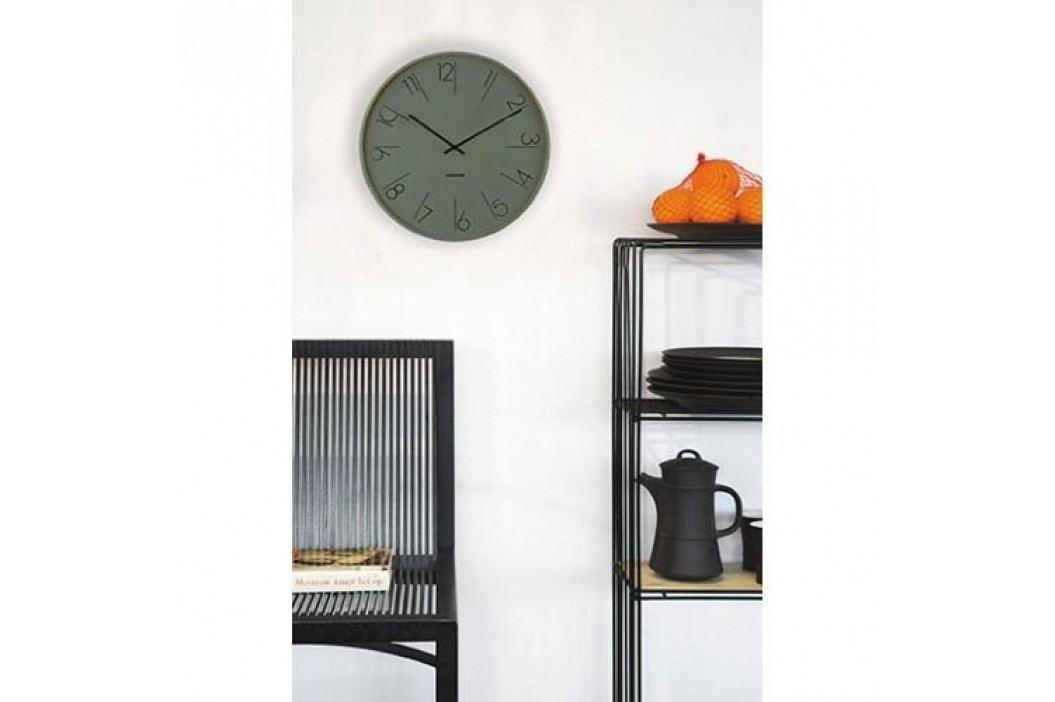 Designové nástěnné hodiny 5607GR Karlsson 40cm