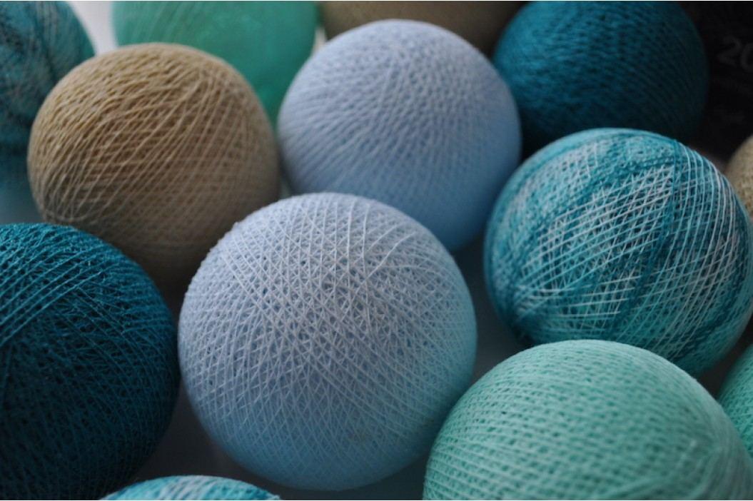 BallDesign Karibský sen (sada 20 balónků) -  Svíticí bavlněné koule