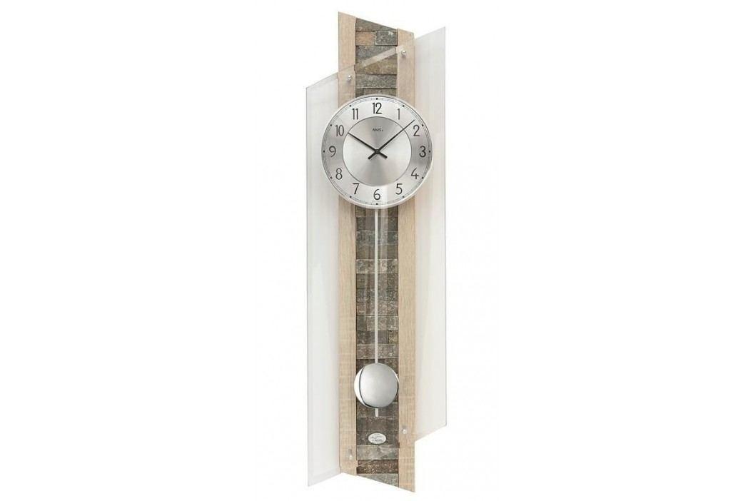 Kyvadlové nástěnné hodiny 5224 AMS řízené rádiovým signálem 85cm