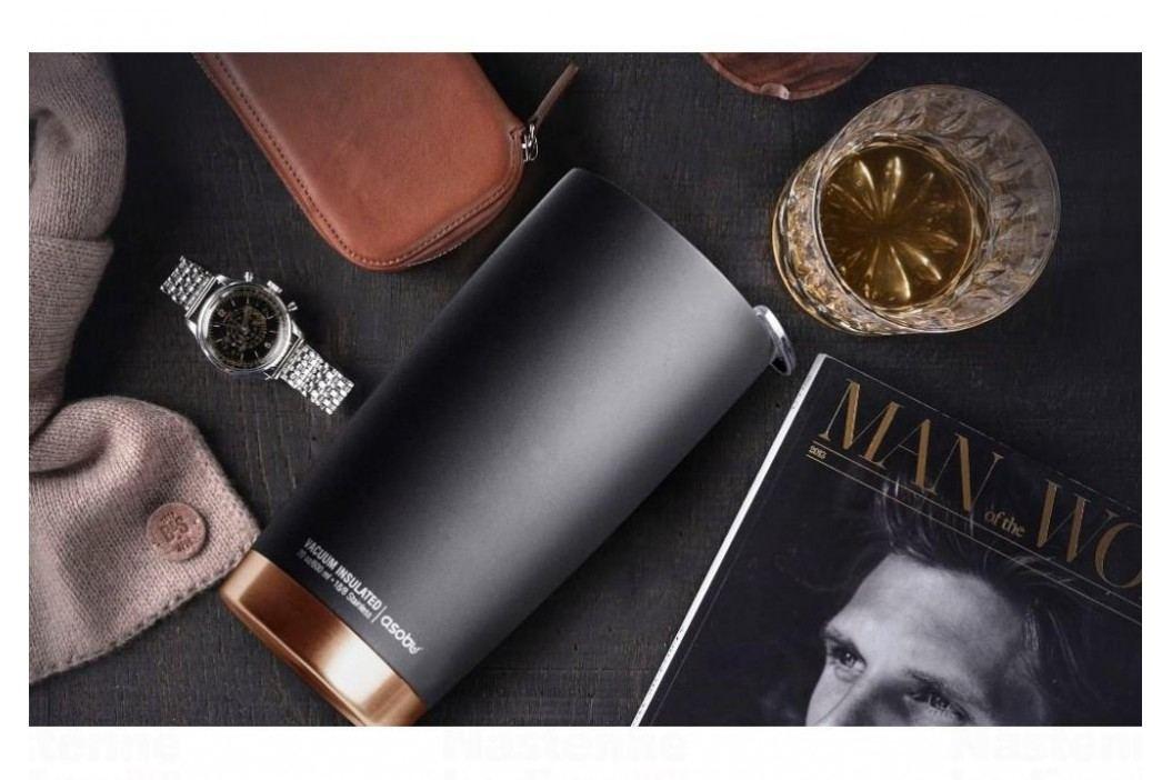 ASOBU luxusní termohrnek The Gladiator black-silver 600ml