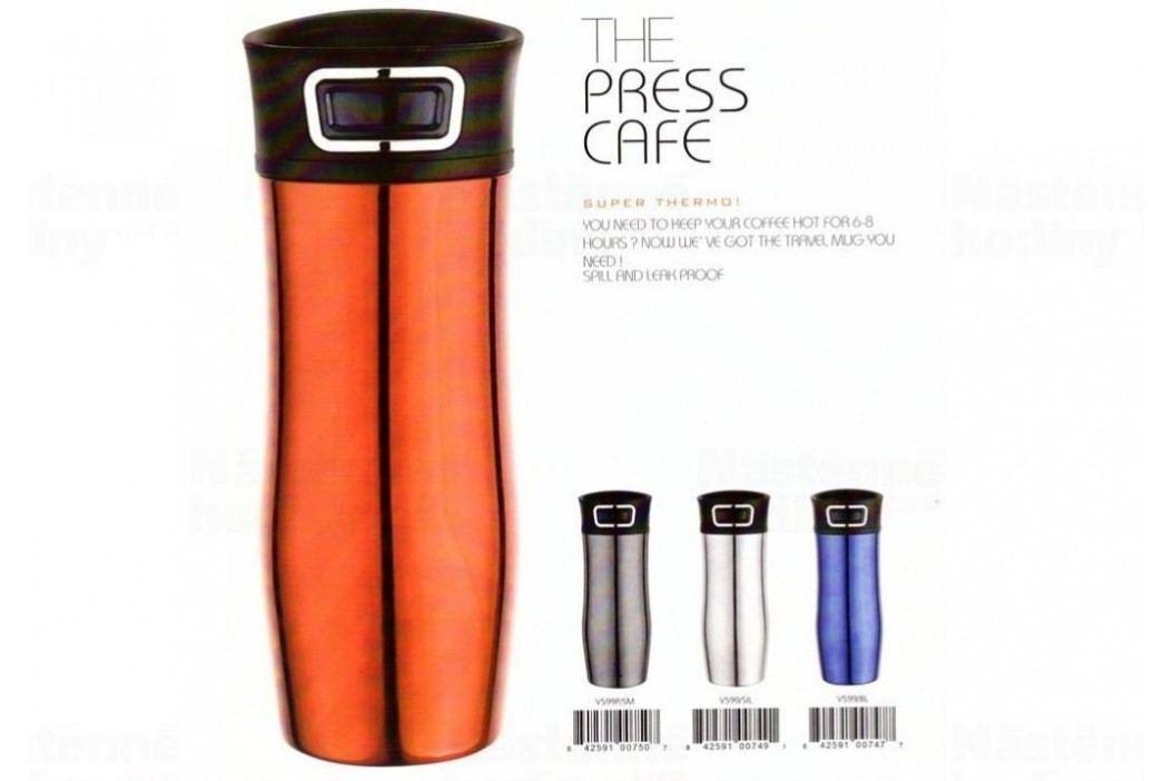 ASOBU cestovní termoska Press Caffe red 420ml