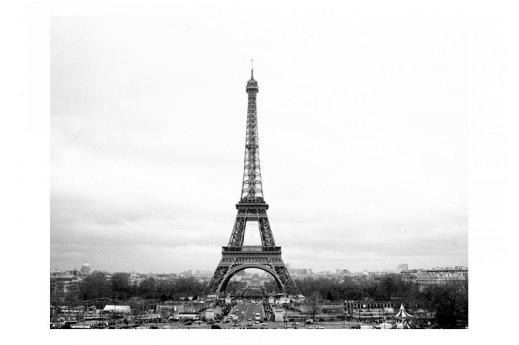 Murando DeLuxe Fototapeta  černobílá Paříž 150x116 cm