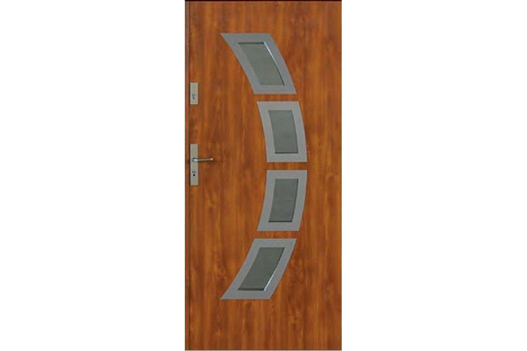 Dveře Thermika Lima INOX s vitráží