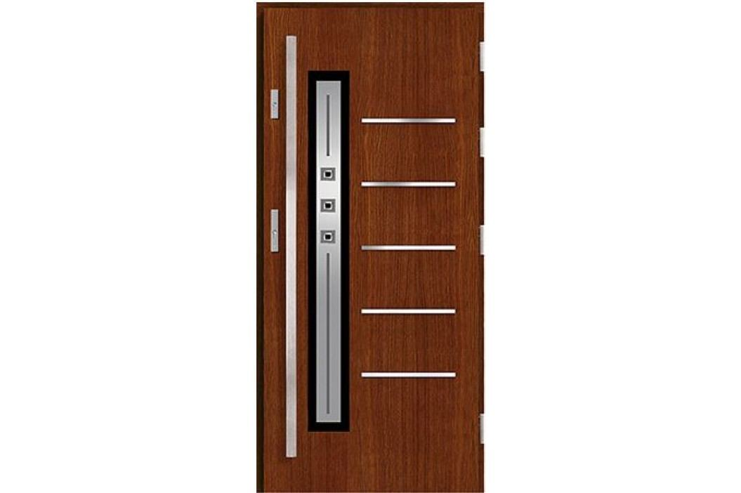 Vchodové dřevěné dveře AGMAR - PLATINO