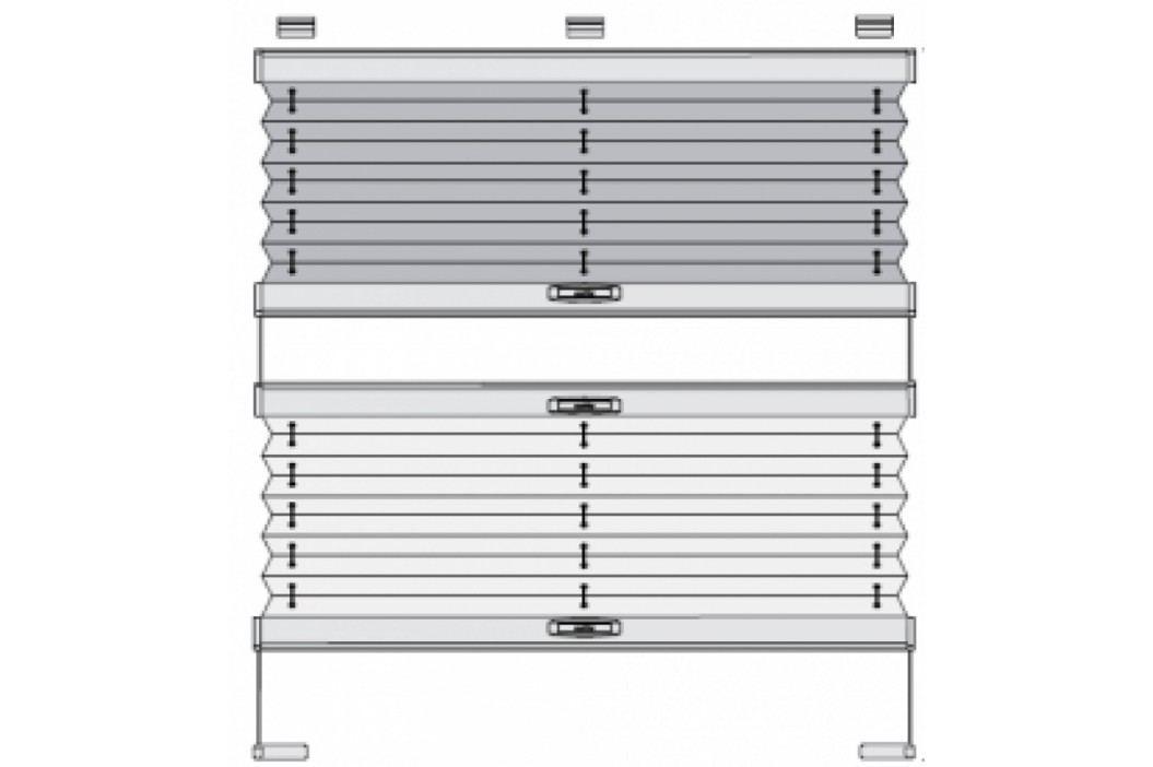 Dvou látkové plissé VS 3 SD s pevným horním profilem - šířka 1-100mm x výška 101-200mm