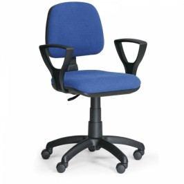 Kancelářská židle Milano s područkami modrá