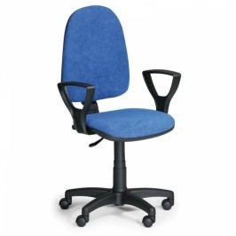 Kancelářská židle Torino s područkami modrá