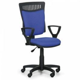 Kancelářská židle Balis s područkami modrá