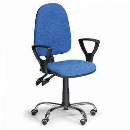 Kancelářská židle Torino SY s područkami modrá