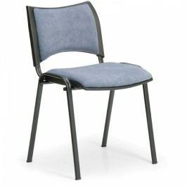 Konferenční židle SMART - černé nohy bez područek šedá