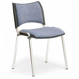 Konferenční židle SMART - chromované nohy šedá