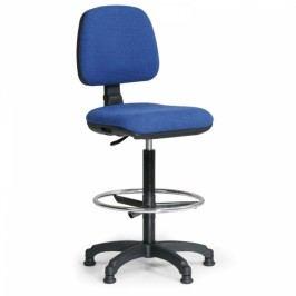 Zvýšená kancelářská židle Milano s opěrkou nohou modrá