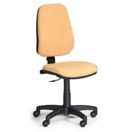 Kancelářská židle COMFORT bez područek žlutá