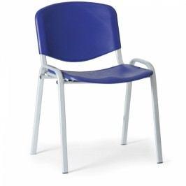 Plastová židle ISO - šedá konstrukce modrá