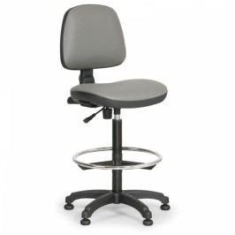 Pracovní židle Milano - opěrný kruh šedá