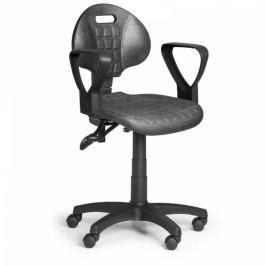 Pracovní židle PUR, synchronní mechanika