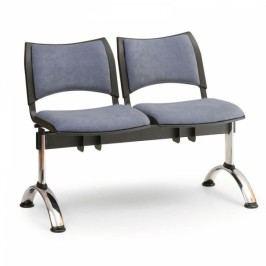 RAUMAN Čalouněné lavice SMART, 2-sedák, chromované nohy šedá