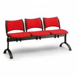 RAUMAN Čalouněné lavice SMART, 3-sedák, černé nohy šedá