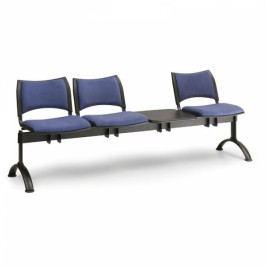 RAUMAN Čalouněné lavice SMART, 3-sedák + stolek, černé nohy šedá