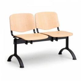 Dřevěné lavice Iso, 2-sedák, černé nohy