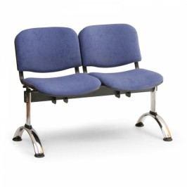 RAUMAN Čalouněné lavice VIVA, 2-sedák, chromované nohy oranžová