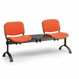 RAUMAN Čalouněné lavice VIVA, 2-sedák + stolek, černé nohy oranžová