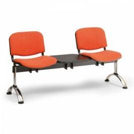 RAUMAN Čalouněné lavice VIVA, 2-sedák + stolek, chromované nohy oranžová
