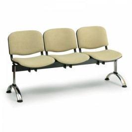 RAUMAN Čalouněné lavice VIVA, 3-sedák, chromované nohy oranžová