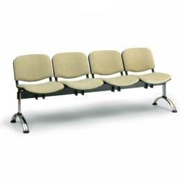 RAUMAN Čalouněné lavice VIVA, 4-sedák, chromované nohy oranžová