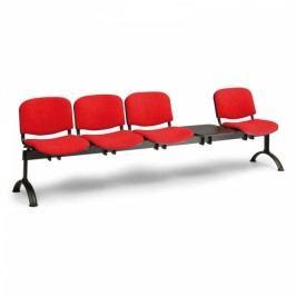 RAUMAN Čalouněné lavice VIVA, 4-sedák + stolek, černé nohy oranžová