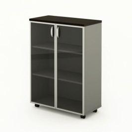 Střední skříň Manager LUX 90 x 43 x 129,2 cm wenge