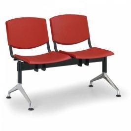 Plastové lavice Design, 2-sedák červená