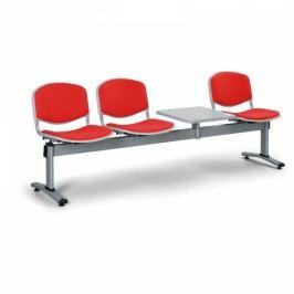 Lavice LIVIRNO - 3 sedák se stolkem červená