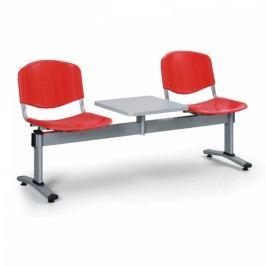 Lavice LIVIRNO - 2 sedák se stolkem červená