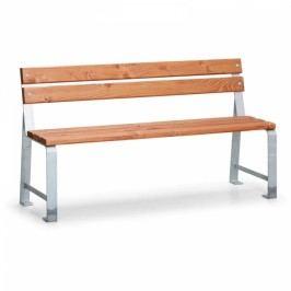 Venkovní lavička Mezzo s opěradlem - 1m