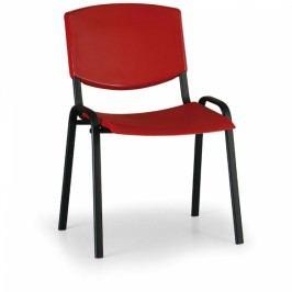 Konferenční židle Design, černá podnož červená