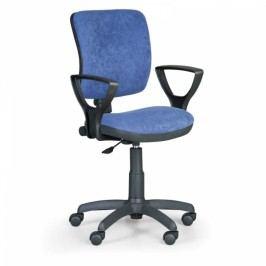 Kancelářská židle Milano II s područkami modrá